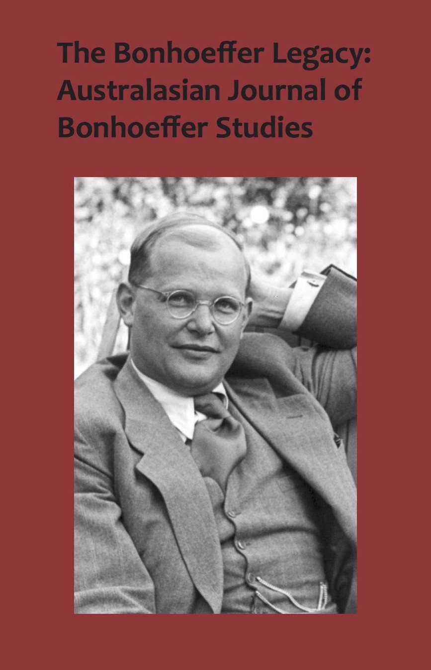 The Bonhoeffer Legacy: Australasian Journal of Bonhoeffer Studies Volume 3 (HARDBACK)