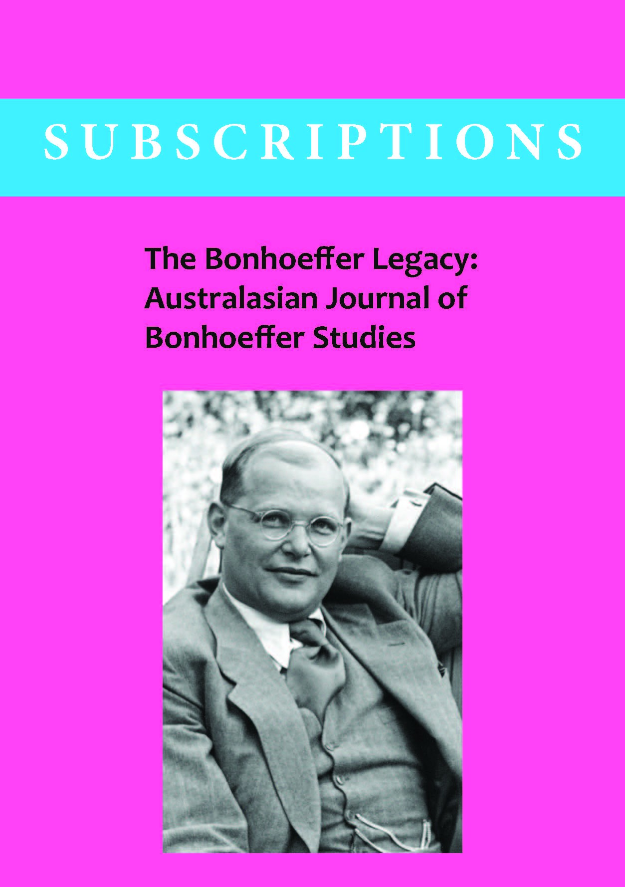 Bonhoeffer Subscriptions (INSTITUTIONS)