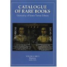 Catalogue of Rare Books Volume 1
